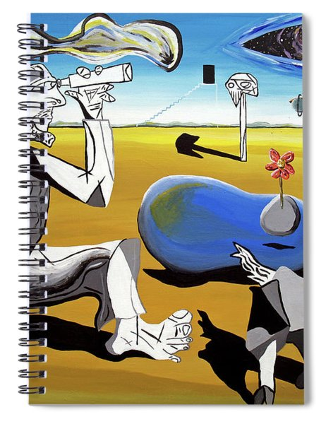 Abstract Surrealism Spiral Notebook