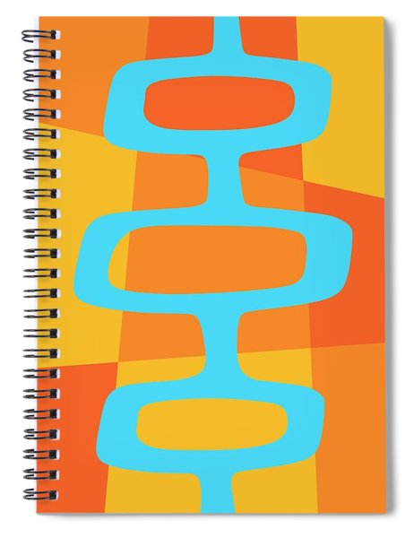 Abstract With Turquoise Pods 3 Spiral Notebook