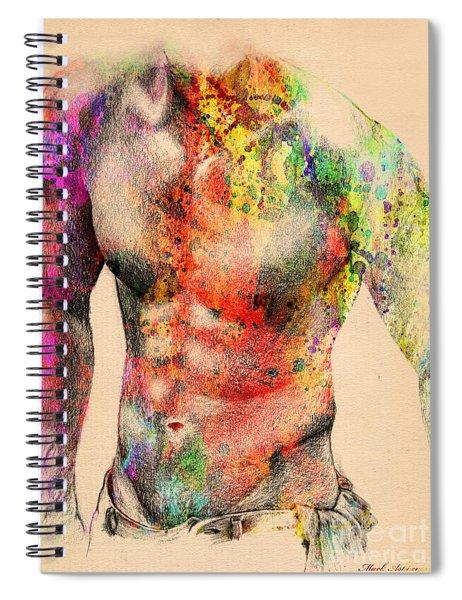 Abstractiv Body -2 Spiral Notebook