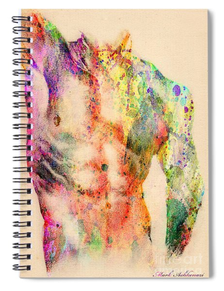 Abstractiv Body  Spiral Notebook