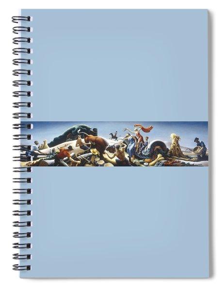 Achelous And Hercules Spiral Notebook