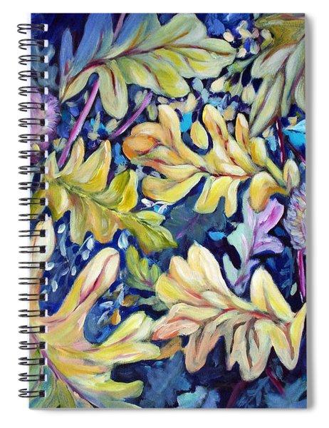 Acorns And Oak Leaves Spiral Notebook