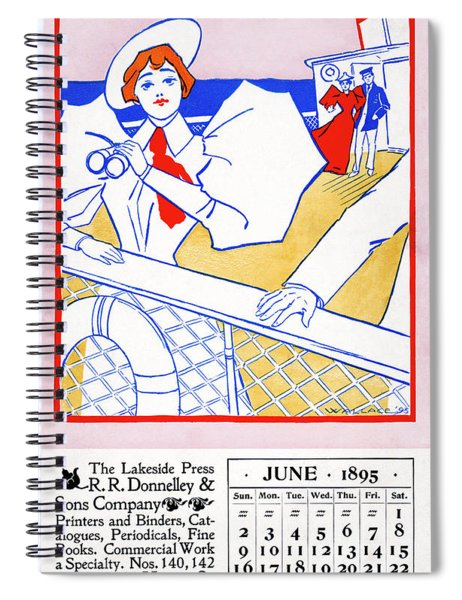 Ad Lakeside Press, 1895 Spiral Notebook