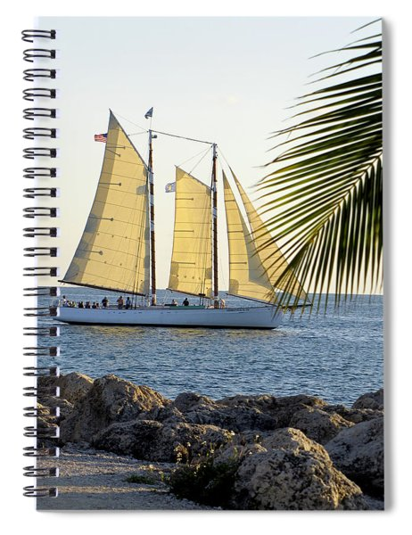 Sailing On The Adirondack In Key West Spiral Notebook