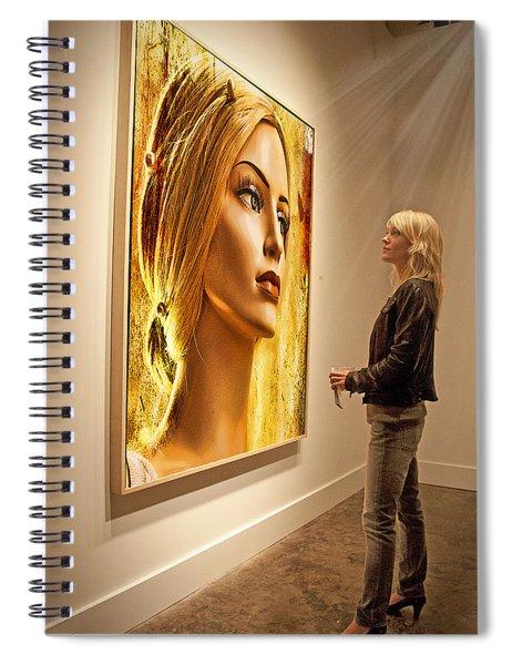 Admiring Beauty Spiral Notebook