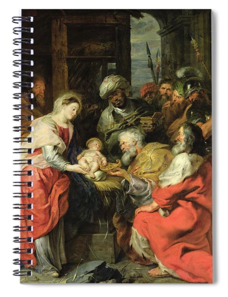 Adoration Of The Magi, 1626-29 Oil Canvas Spiral Notebook