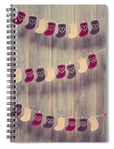 Advent Calendar Spiral Notebook by Amanda Elwell