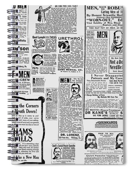 Advert - Edwardian Mens Health Spiral Notebook