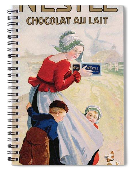 Advertisement For Chocolat Au Lait Spiral Notebook
