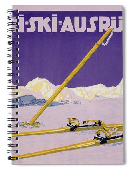 Advertisement For Skiing In Austria Spiral Notebook