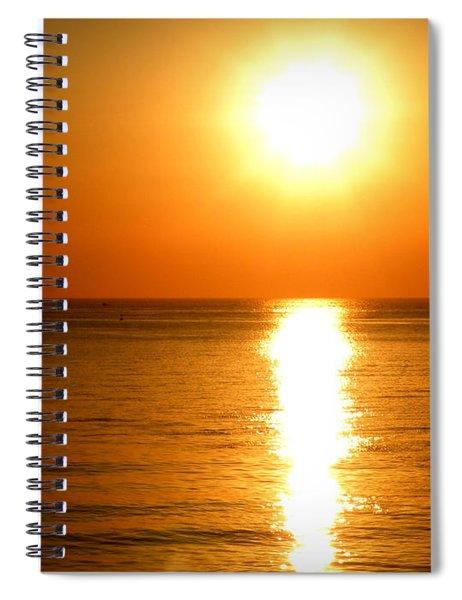 Aegean Sunset Spiral Notebook
