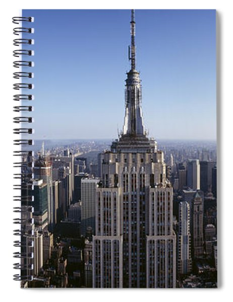 Aerial View Of A Cityscape, Empire Spiral Notebook
