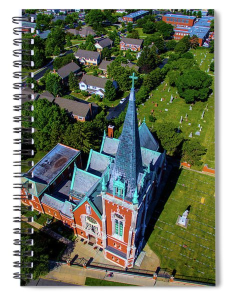 Aerial View Of Angel Guardian Church Spiral Notebook