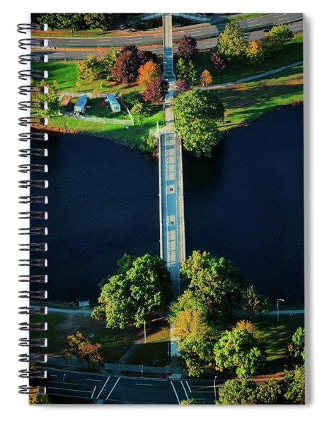 Aerial View Of Bridge Across Charles Spiral Notebook
