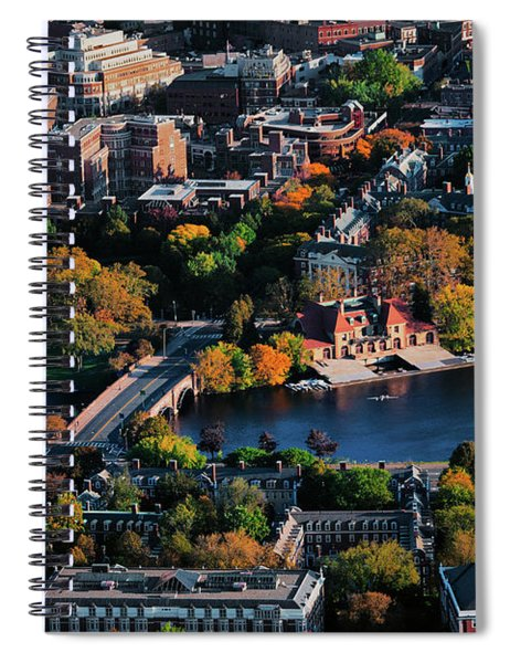 Aerial View Of Cambridge And Anderson Spiral Notebook