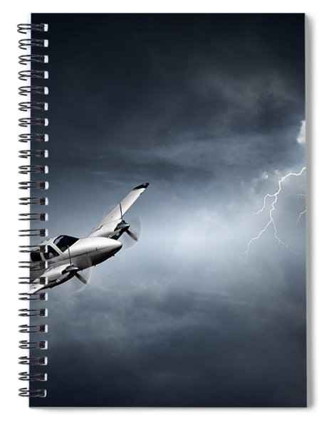 Risk - Aeroplane In Thunderstorm Spiral Notebook