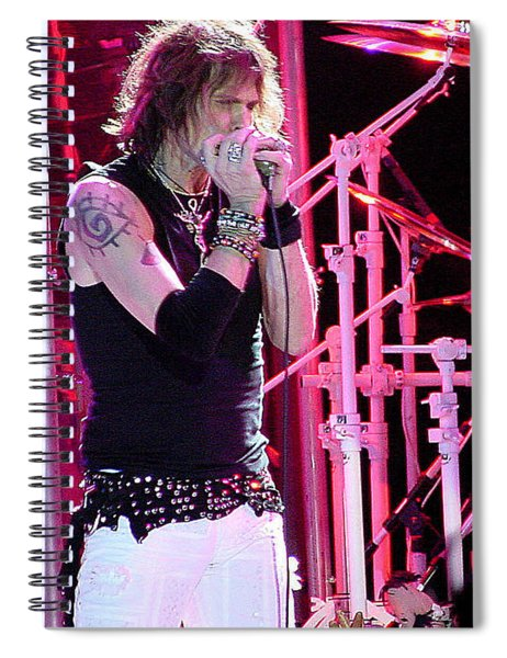 Aerosmith-steven Tyler-00042 Spiral Notebook
