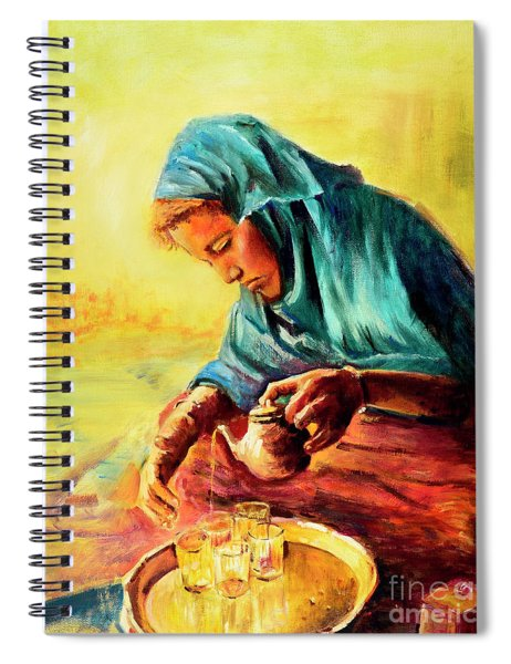 African Chai Tea Lady. Spiral Notebook
