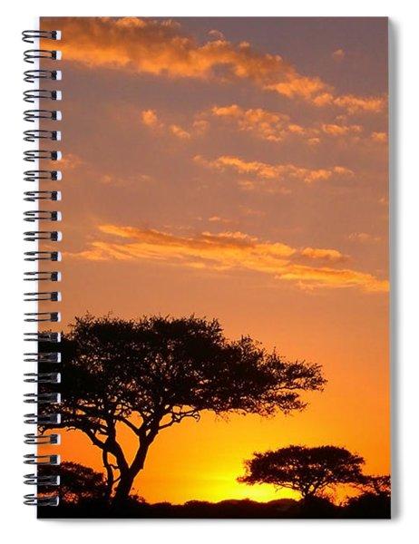 African Sunset Spiral Notebook