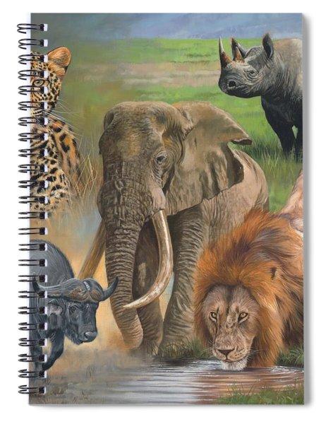 Africa's Big Five Spiral Notebook