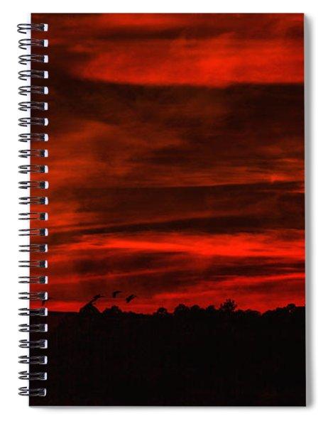 After Sunset Sky Spiral Notebook