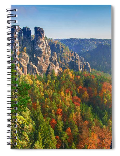 After The Sunrise On The Bastei Spiral Notebook