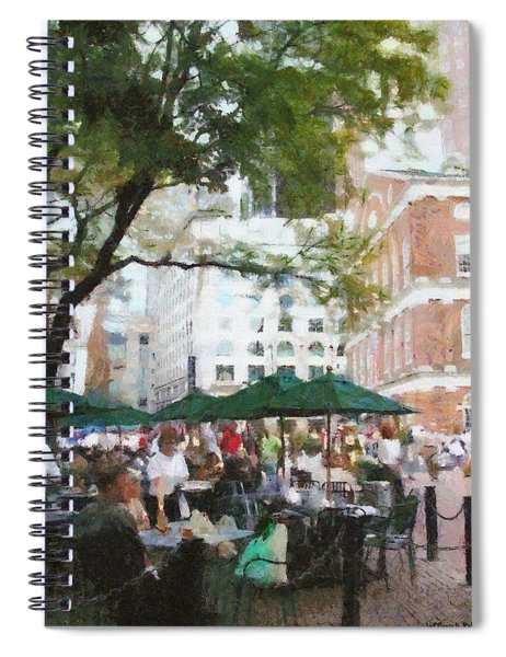 Afternoon At Faneuil Hall Spiral Notebook