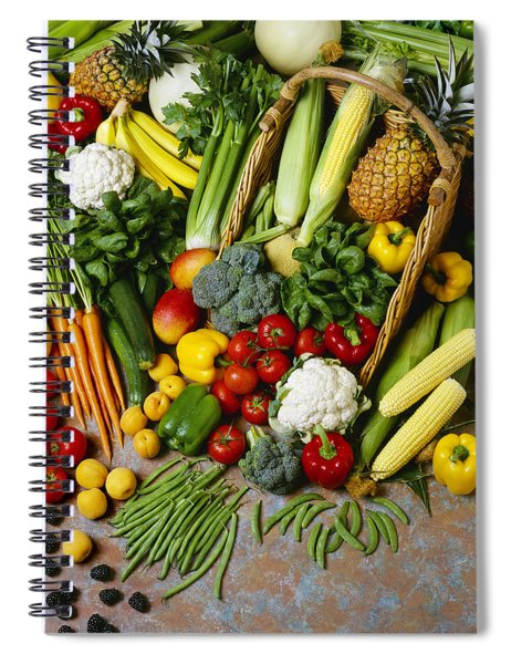 Agriculture - Mixed Fruit Spiral Notebook