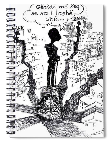 Ahmet Zogu Hijet Mbreterore Ne Tirane  Spiral Notebook