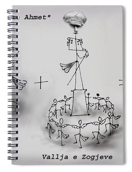 Ahmet Zogu Perralla Me Mbret Spiral Notebook