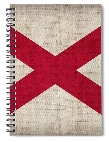 Alabama State Flag Spiral Notebook by Pixel Chimp