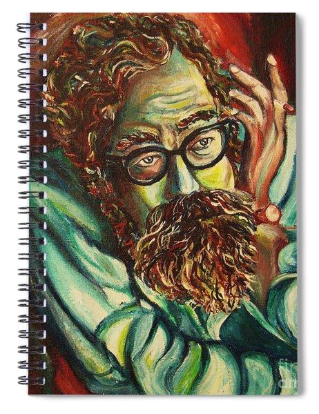 Alan Ginsberg Poet Philosopher Spiral Notebook