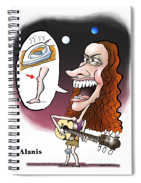 Alanis Morissette Spiral Notebook