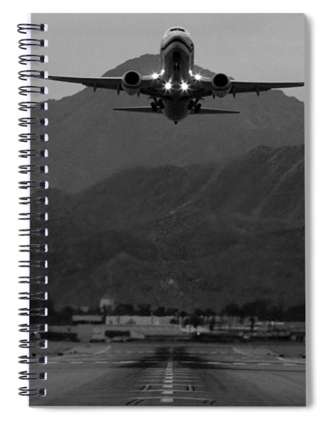 Alaska Airlines Palm Springs Takeoff Spiral Notebook