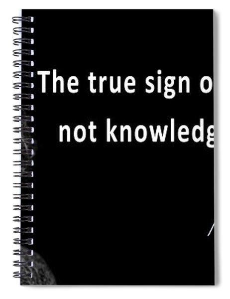 Albert Einstein Speaks About Imagination Spiral Notebook