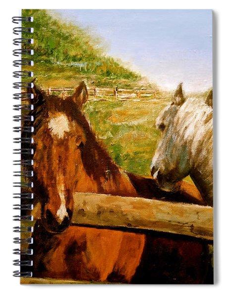 Alberta Horse Farm Spiral Notebook