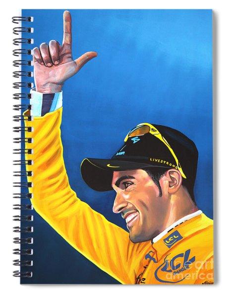 Alberto Contador Spiral Notebook