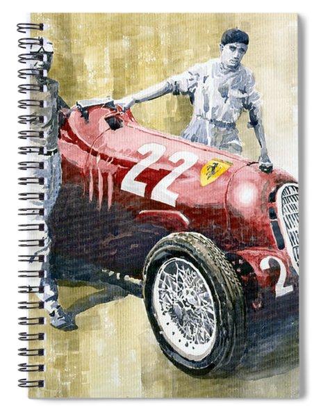 Alfa Romeo 12c-36 Tazio Nuvolari Coppa Ciano Race 1937 Spiral Notebook