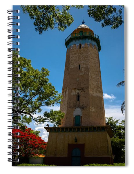 Spiral Notebook featuring the photograph Alhambra Water Tower Of Coral Gables by Ed Gleichman