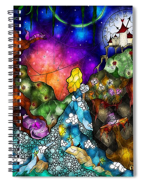 Alice's Wonderland Spiral Notebook