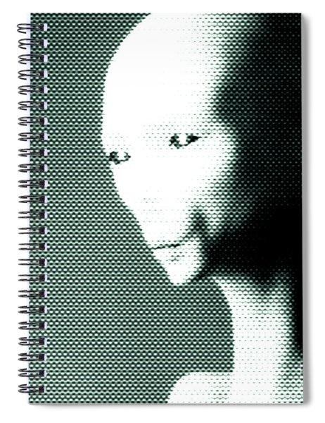 Alien Grey Pattern Spiral Notebook