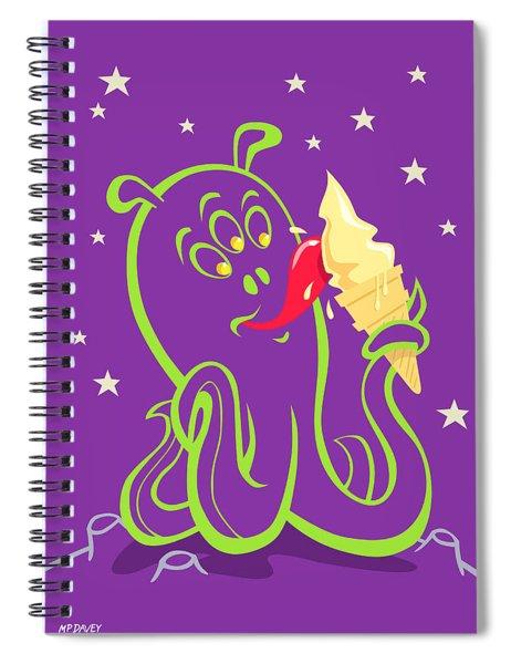 Spiral Notebook featuring the digital art Alien Ice Cream -vector Version by Martin Davey