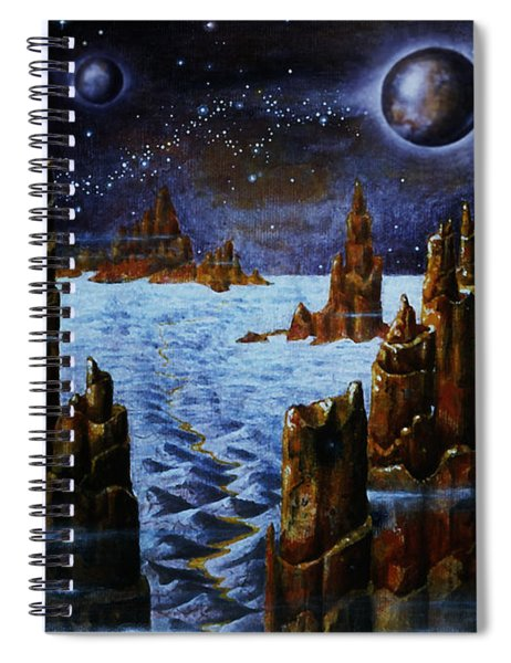 Ice And Snow  Planet  Spiral Notebook