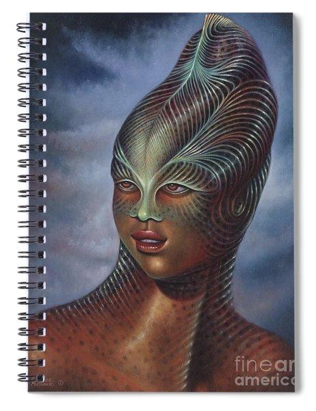 Alien Portrait I Spiral Notebook