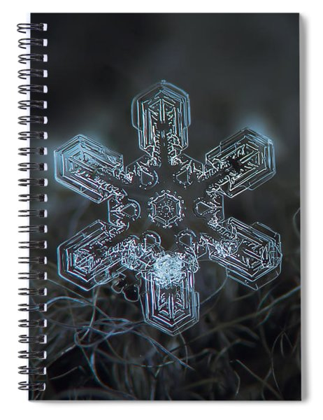 Snowflake Photo - Alioth Spiral Notebook