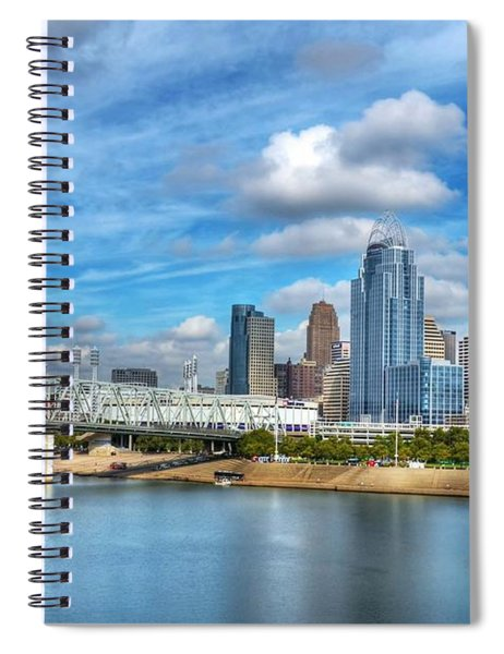 Spiral Notebook featuring the photograph All American City 3 by Mel Steinhauer