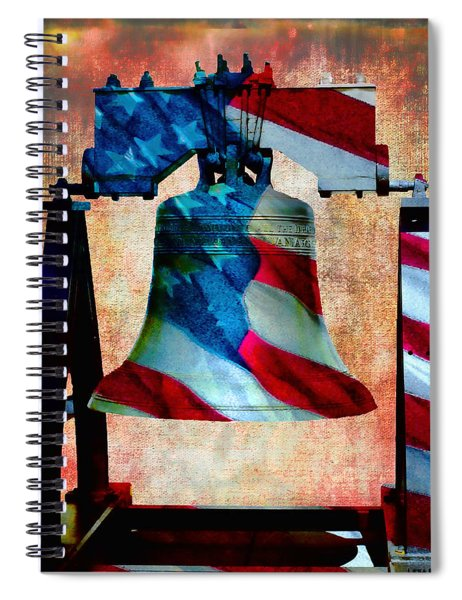 Liberty Bell Art Smooth All American Series Spiral Notebook