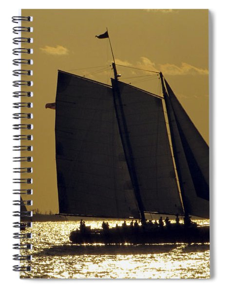All Sails Sunset In Key West Spiral Notebook