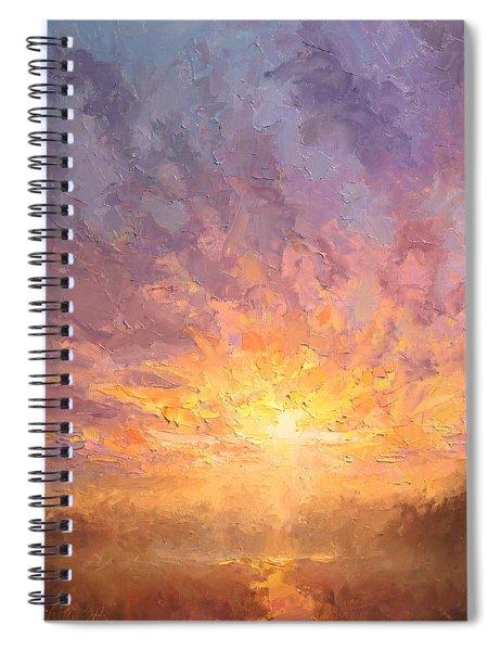 Impressionistic Sunrise Landscape Painting Spiral Notebook