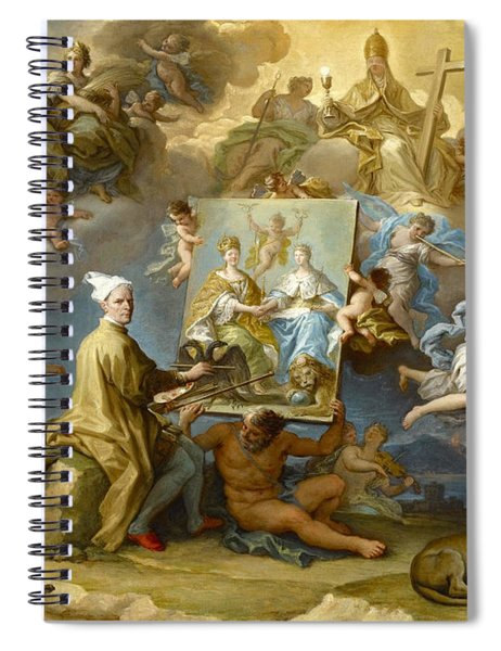 Allegory Of The Consequences Of The Peace Of Utrecht Spiral Notebook